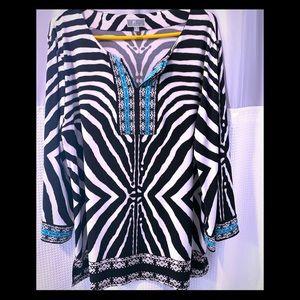 Zebra Tunic swim suit cover up